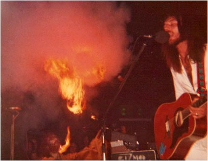 Brian Gould fire-blowing